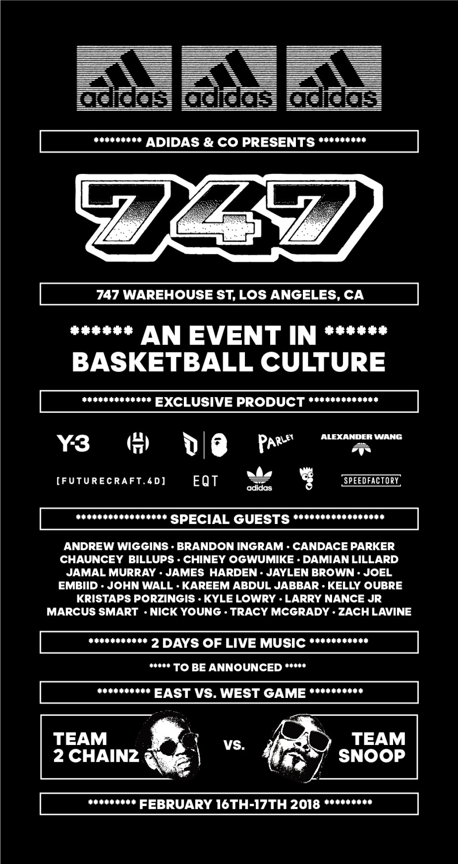 brand new d297a 82b64 adidas To Create A Pinnacle Basketball Culture Experience In Los Angeles