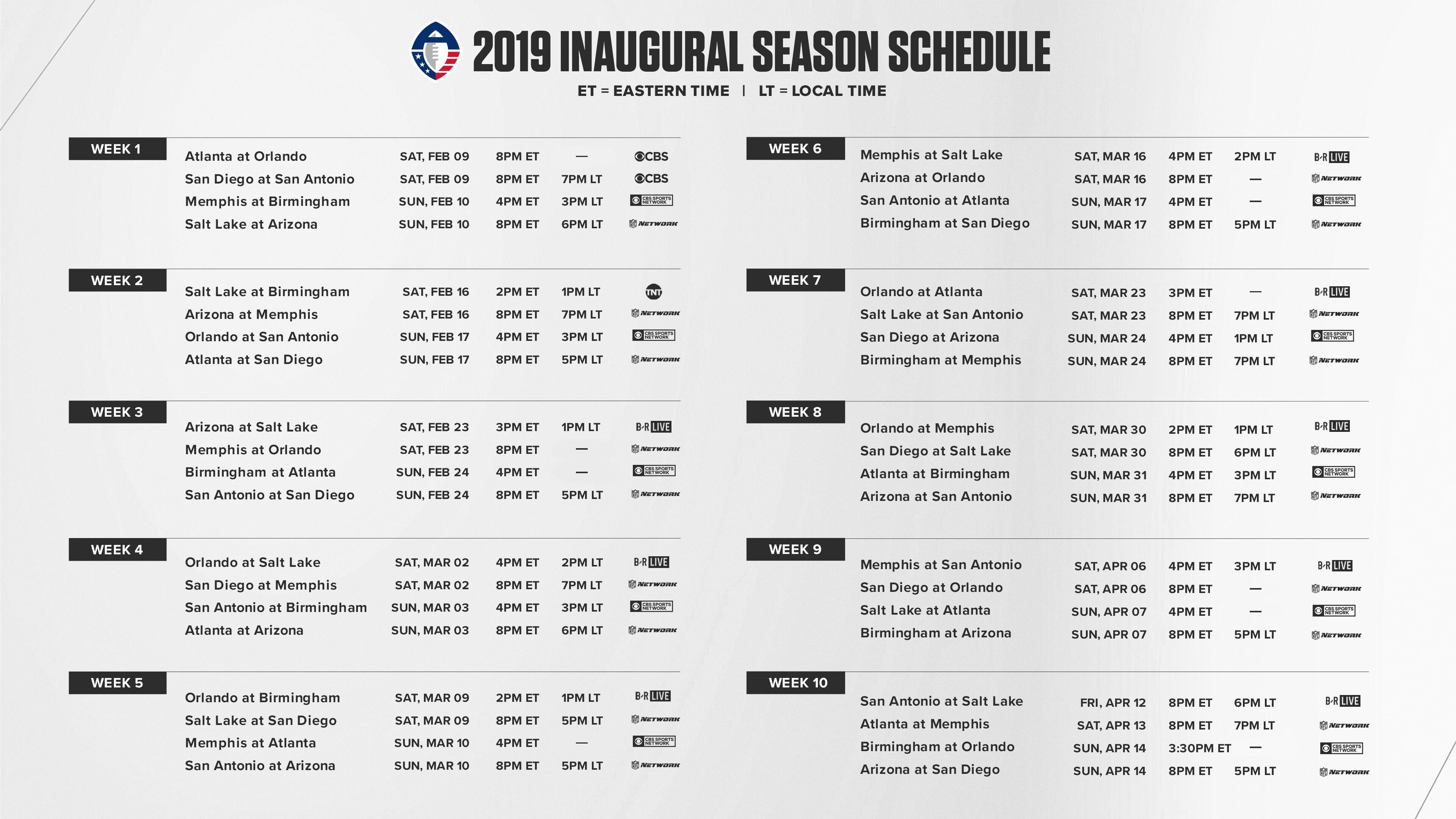 The Alliance Of American Football Opens Inaugural Season