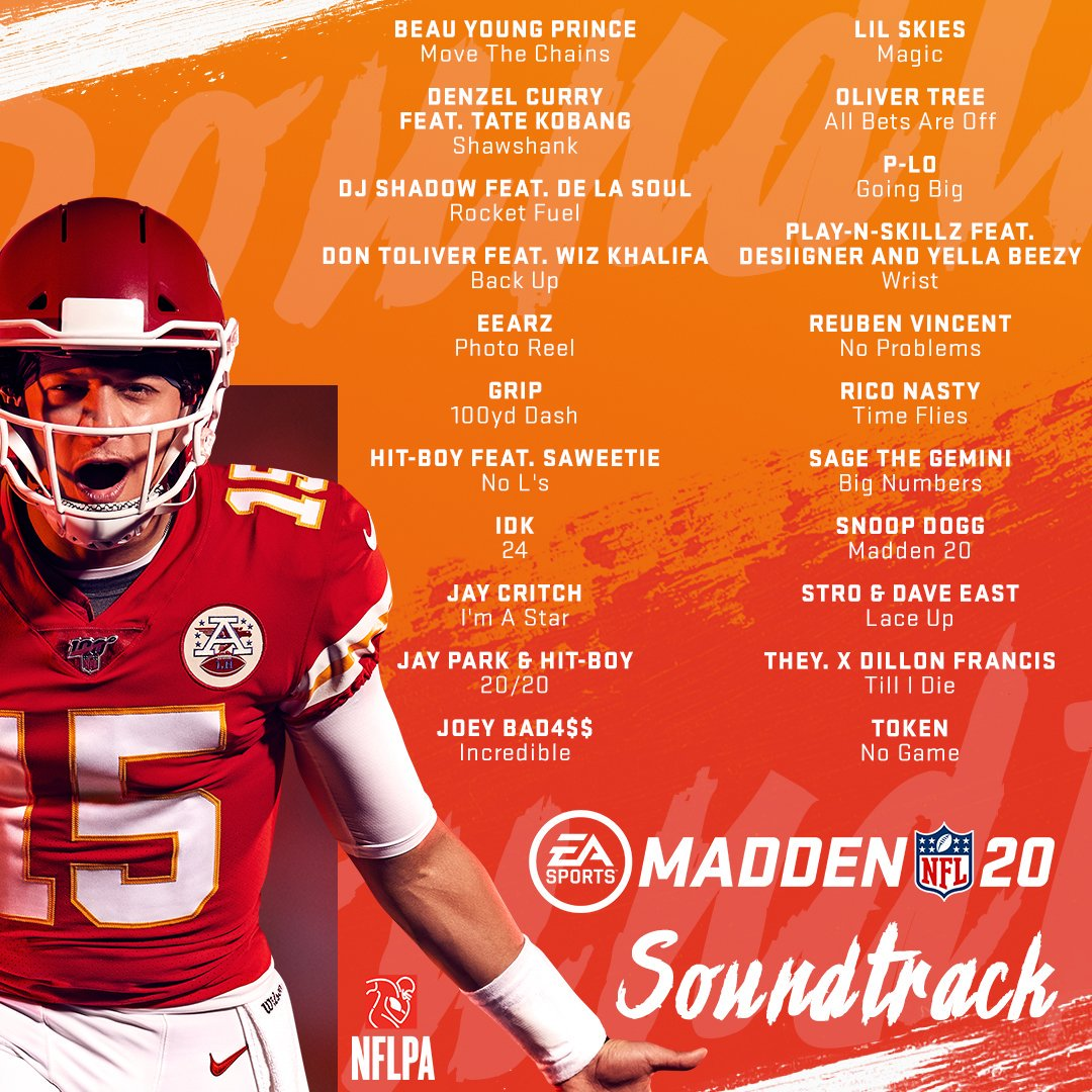 Madden NFL 20' Releases Soundtrack, Launches 'Madden 20
