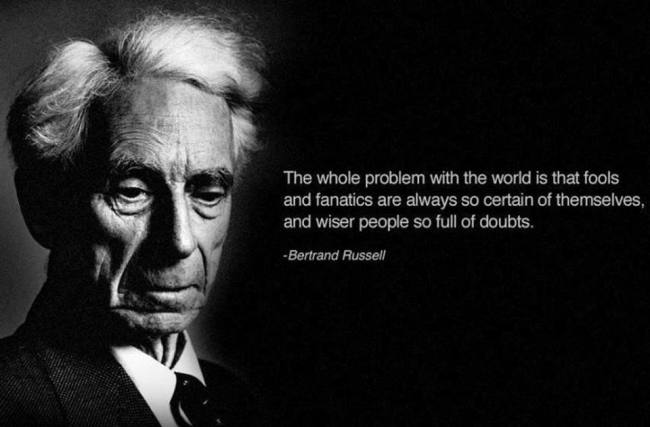 Bertrand Russell on the Dunning-Kruger effect