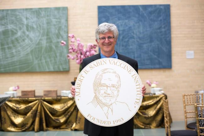 Paul Offit receives the Sabin Gold Medal