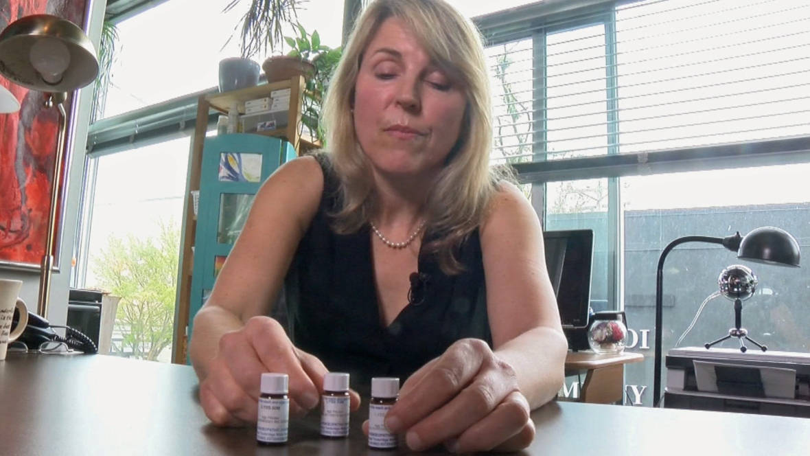 Anke Zimmermann and her rabid dog remedy