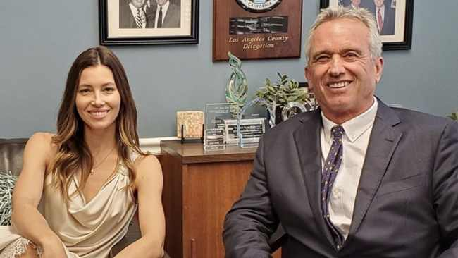 Jessica Biel and Robert F. Kennedy, Jr.