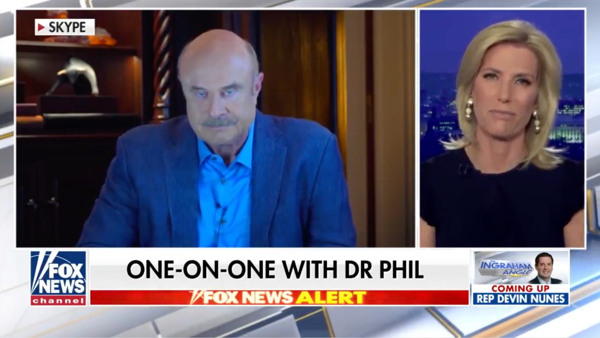 COVID-19 denial by Dr. Phil on Laura Ingraham's show