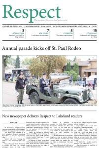 Respect, September 4, 2014, Volume 1, Issue 1