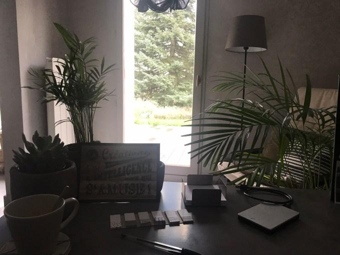 Ma vue sur mon jardin depuis mon espace de travail: une vue qui m'apporte de la joie!