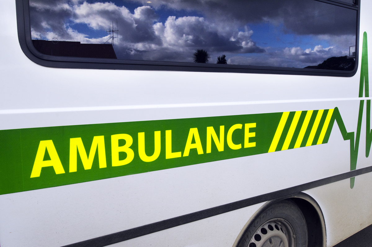 Ambulance sign writing