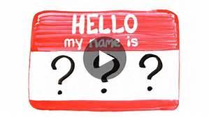 VIDEO-LE principe qui fait TOUTE la différence ou POURQUOI retenir des prénoms?