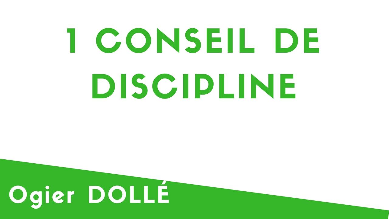 1 conseil de discipline