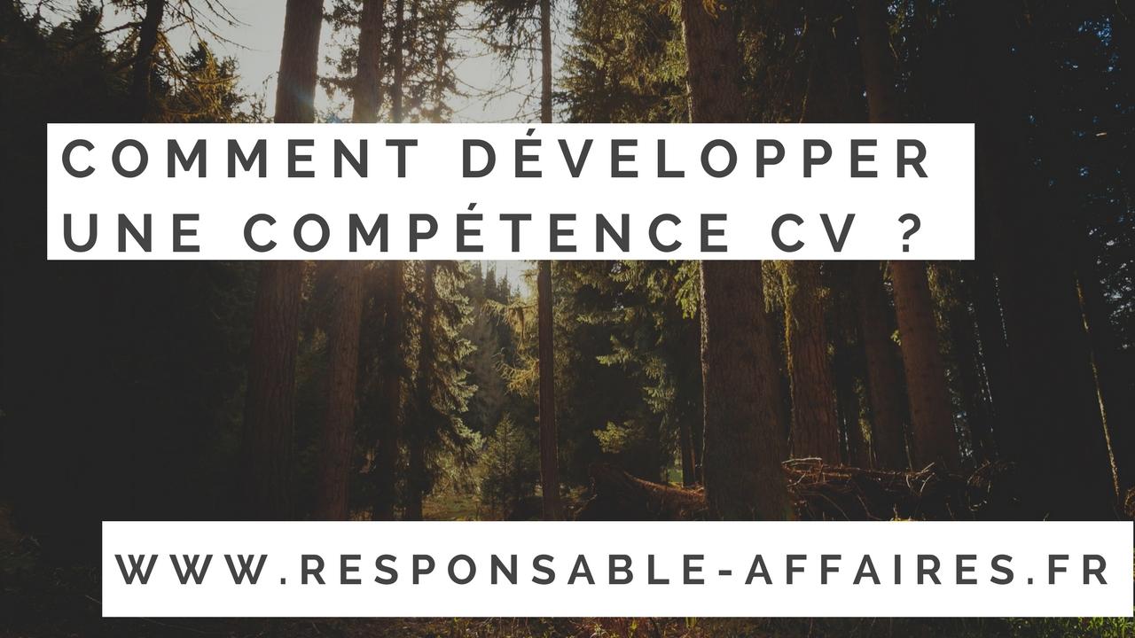 Comment développer une compétence cv ?