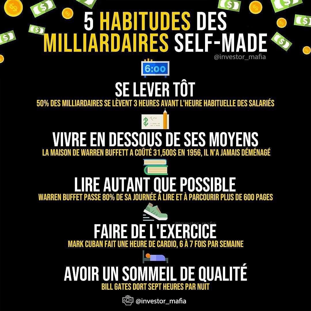 5 habitudes des Milliardaires Self-Made