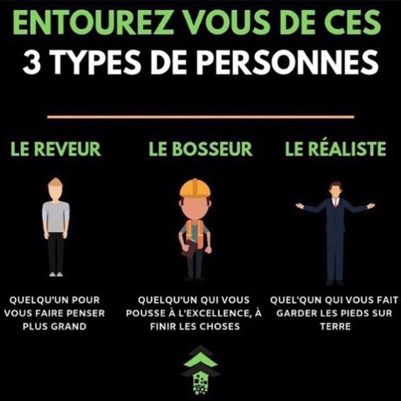 3 types de personnes avec qui s'entourer