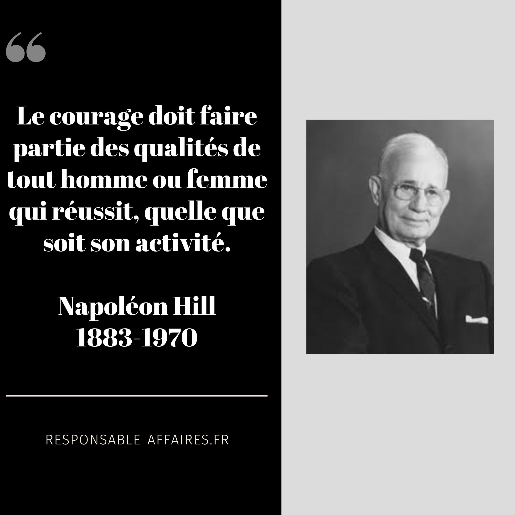 NAPOLEON HILL : 7 citations inspirantes