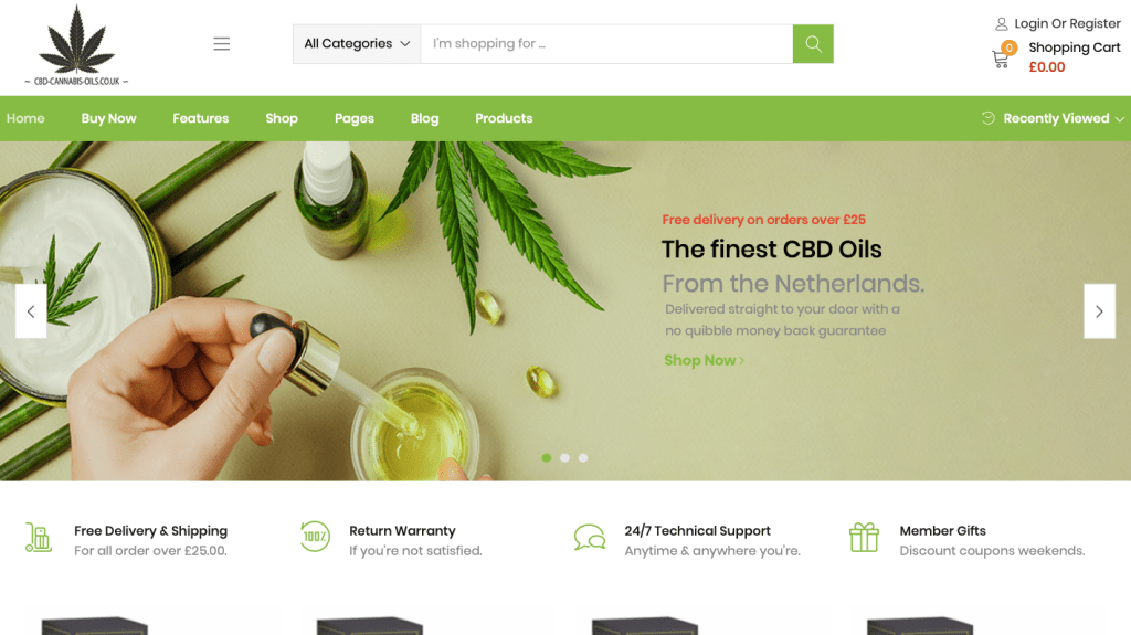 CBD oils brand new website to buy cannabis oils