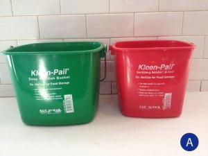 Label Sanitizer Buckets