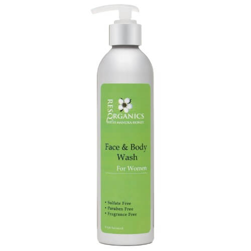 Face and Body Wash made with Manuka Honey and Aloe Vera