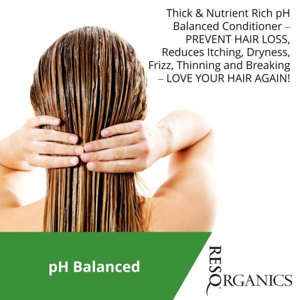 Nutrient-rich conditioner to reduce itchiness, dryness, and frizz