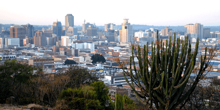 Harare, capital of Zimbabwe and headquarters of the Central Bank.