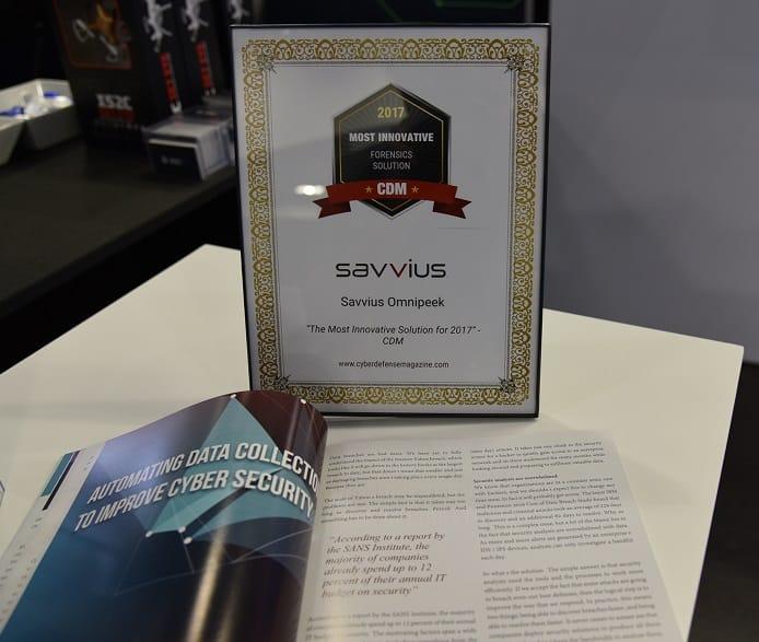 Omnipeek surclasse ses concurrents et reçoit de Cyber Defense Magazine le prix de l'outil le plus innovant en forensic réseau pour 2017 !!!