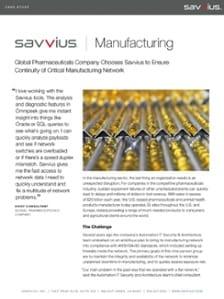 Comment une entreprise de produits pharmaceutiques garantie le bon fonctionnement d'un réseau de production critique