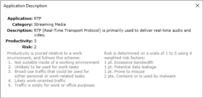 Omnipeek présente la description détaillée de chaque protocole