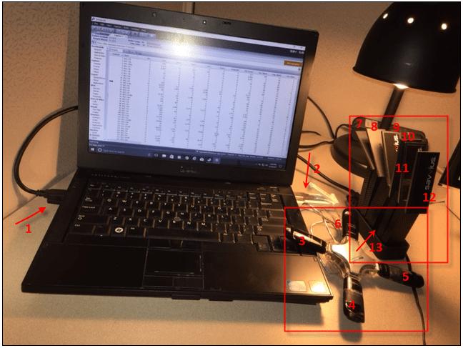 configuration du PC de Jason avec Omnipeek pour analyser plusieurs canaux WiFi