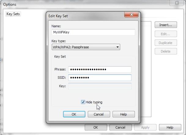 Omnipeek enregistre les clés de cryptage des réseaux WiFi pour décoder à la voler les données
