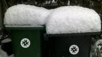 Container in de winter