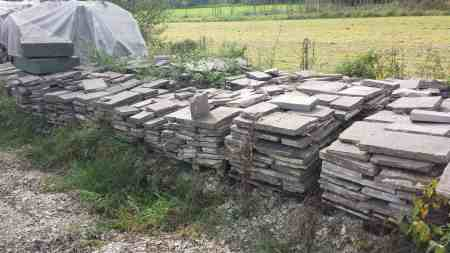 Porphyplatten Stärke ca 3-6cm