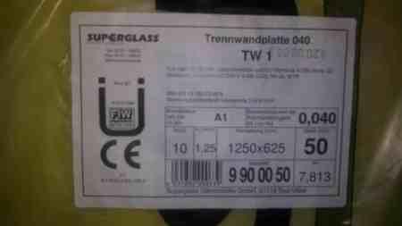 Trennwandplatten 040 50mm