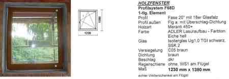 Meranti Holzfenster (Echtholz)