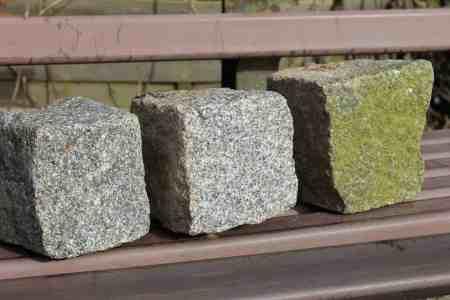 Granitsteine, Granitpflaster, Größe ca. 9-11cm, ca. 50qm