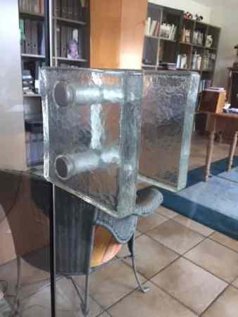 Glastür mit Glasabschluss