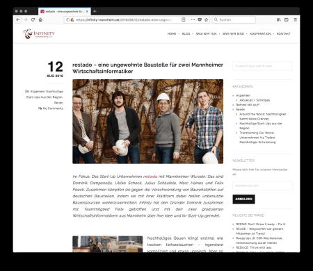 restado – eine ungewohnte Baustelle für zwei Mannheimer Wirtschaftsinformatiker