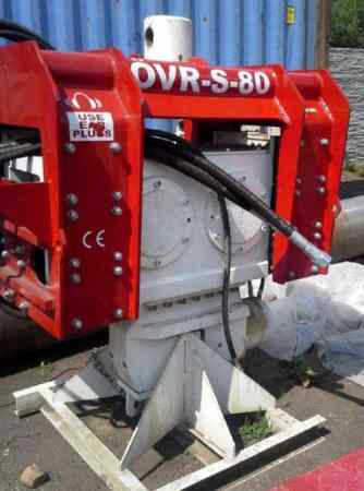 Used vibro hammer OVR S80 excavator mounted