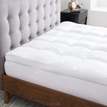 LUCID Ultra Plush Down Alternative Fiber Bed Mattress Topper