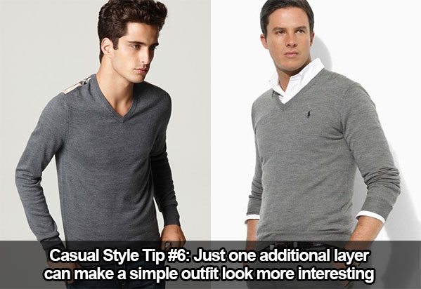 Casual Style Tip #6: Just One Additional Layer Can Improve a Dull Outfit