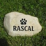 Pet Memorial Rock Example