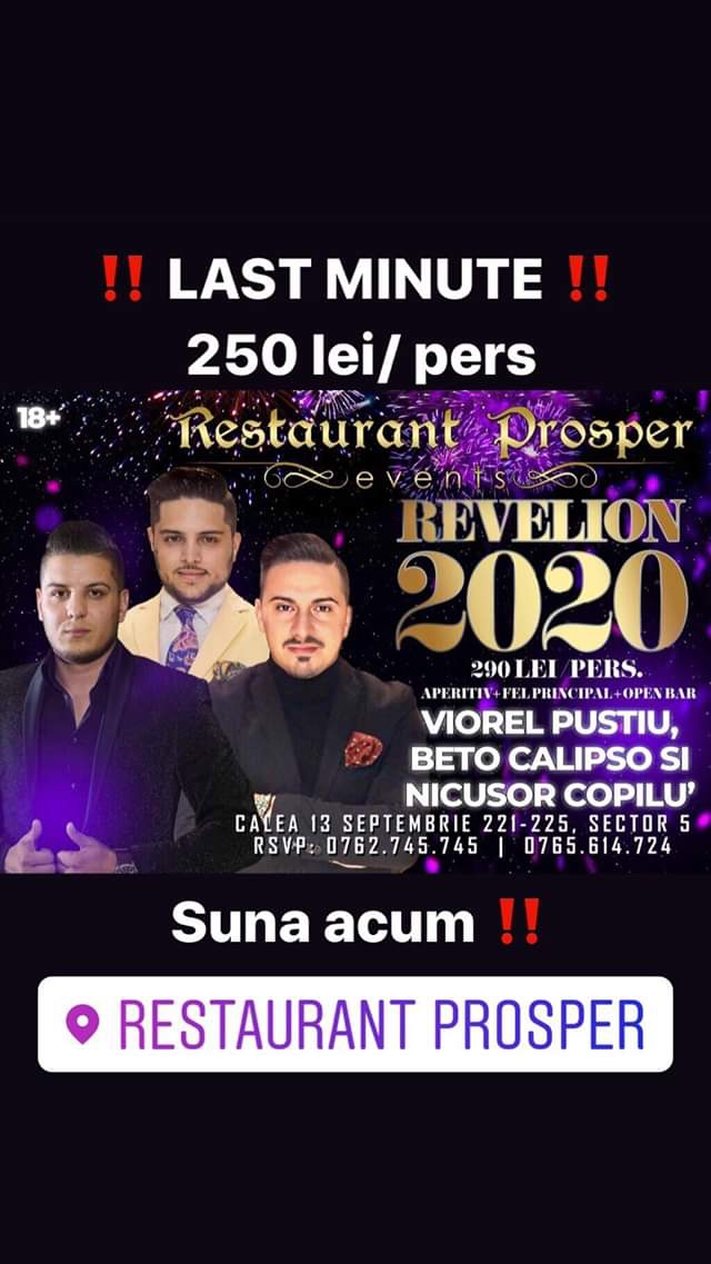 Revelion 2020 la Prosper - Last minute 250 lei