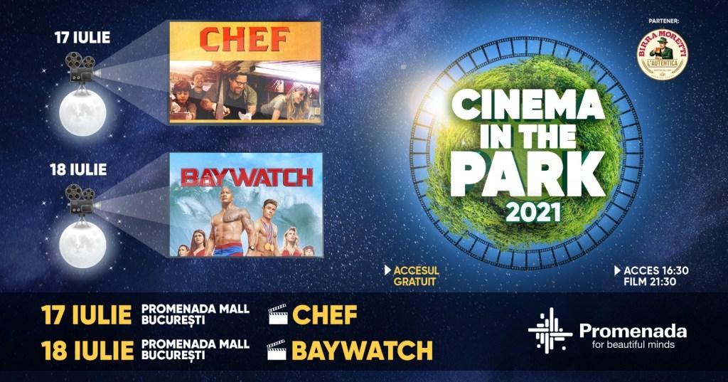 Cinema in the Park: Seri de film în aer liber Pe PROMENADA MALL