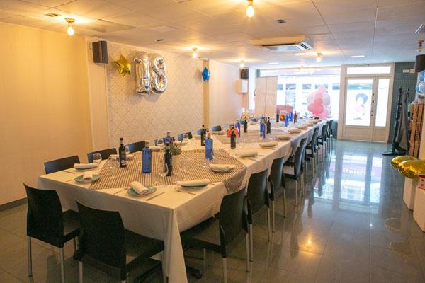 Servicios de restaurante para fiestas privadas
