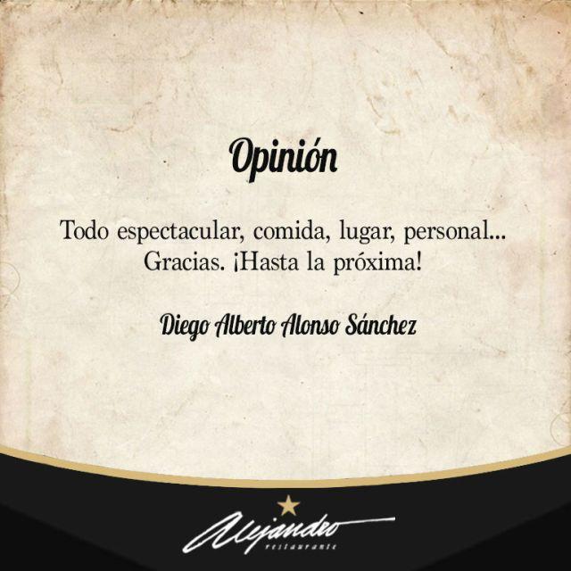 Opiniones sobre Restaurante Alejandro