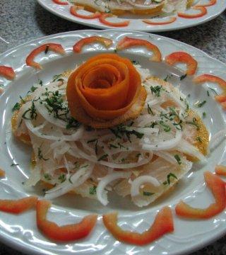 Bacalao a la naranja. Restaurantes de Córdoba Sociedad Plateros María Auxiliadora