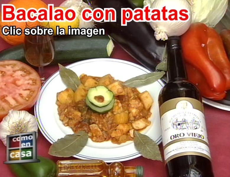 Bacalao con patatas del Restaurante de Cordoba Sociedad Plateros Maria Auxiliadora
