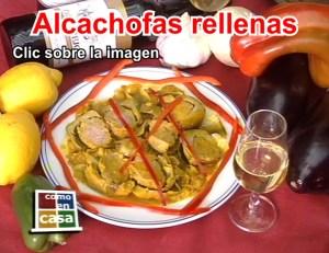Alcachofas rellenas. Restaurnate en Córdoba Sociedad Plateros María Auxiliadora