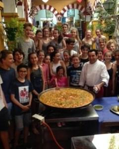 Curso cocina estuadiantes franceses Restaurante Sociedad Plateros Maria Auxiliadora 1