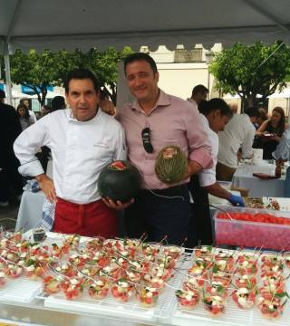Manolo Bordallo y Jose Antonio Uceda rn Califato Gourmet