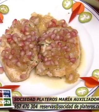 Lomo con miel y granada en Restaurantes de Cordoba Sociedad Plateros Maria Auxiliadora sin gluten apto para celiacos