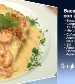 Bacalao con almendras sin gluten del Restaurante Sociedad Plateros Maria Auxiliadora