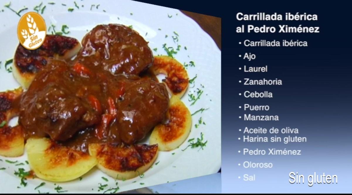 Carrillada iberica al Pedro Ximenez sin gluten